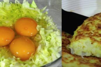Добавляю 3 яйца в капусту и за несколько минут получаю вкусный пирог 1