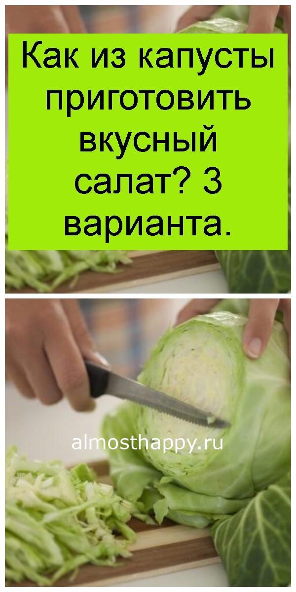 Как из капусты приготовить вкусный салат? 3 варианта 4