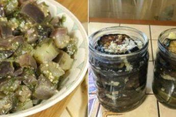 Консервированные баклажаны, по вкусу как шашлык: вкусный рецепт 1