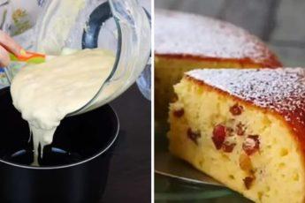 Вкусный и нежный пирог на сметане быстрого приготовления 1