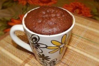 Вкусный шоколадный кекс в микроволновке. Готовлю его каждое утро 1