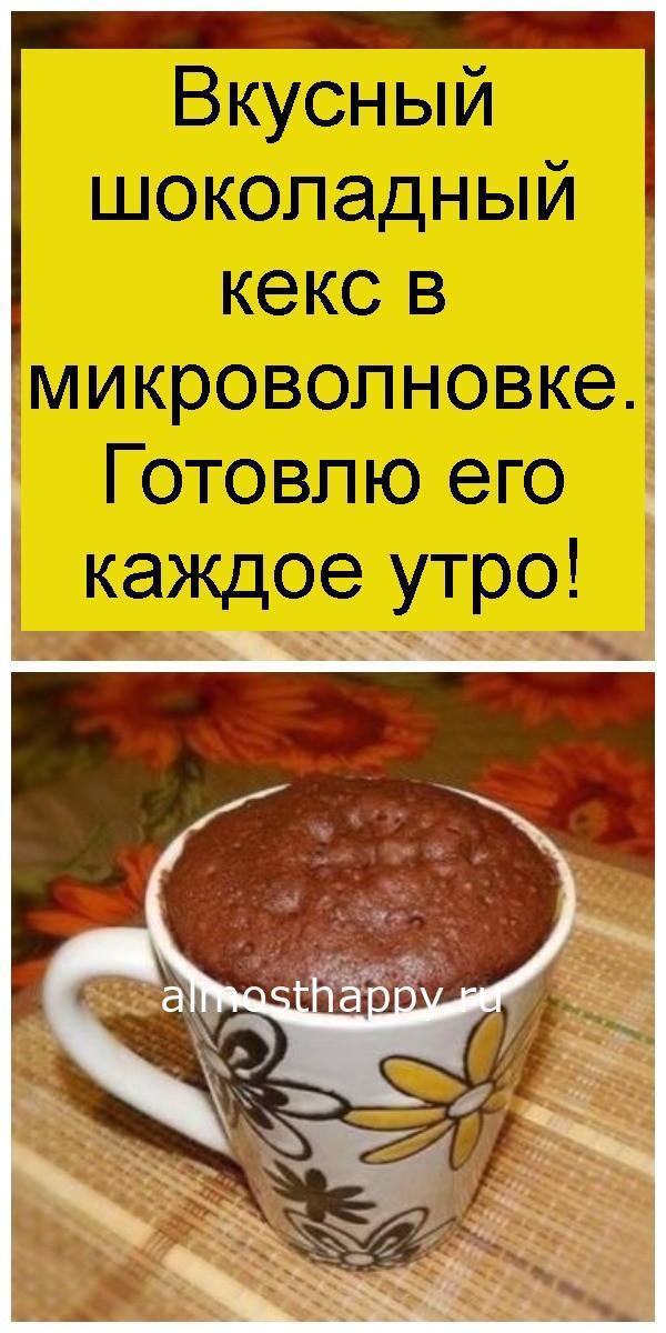 Вкусный шоколадный кекс в микроволновке. Готовлю его каждое утро 4