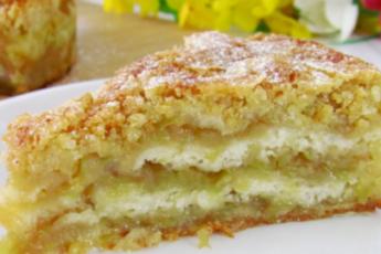 Яблочная вкуснятина – пирог, который тает во рту. Простой и быстрый рецепт 1