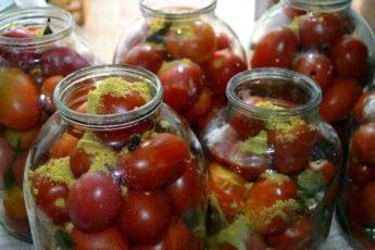 Рецепт маринованных помидор с горчицей 1