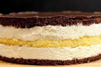 Торт Птичье молоко с кремом из манки. Потрясающий вкус 1