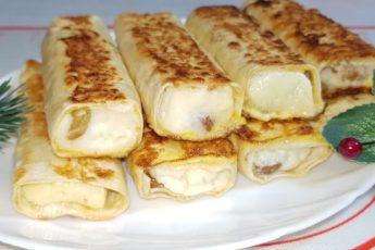 Трубочки из лаваша: завтрак без хлопот за несколько минут 1