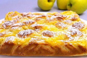 Вкусный яблочный пирог с заварным кремом. Гораздо вкуснее шарлотки 1