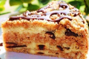 Простой и вкусный пирог с творогом и черносливом. Нежный и бесподобный 1