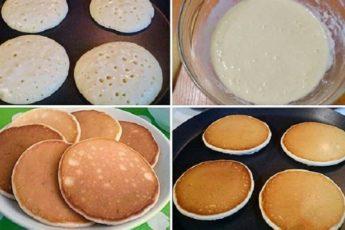 Рецепт нежнейших панкейков на молоке 1