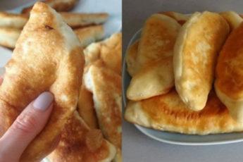 Рецепт пирожков с капустой без яиц 1