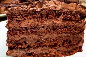 Торт на сковороде за 30 минут «Ленивый трюфель» 1