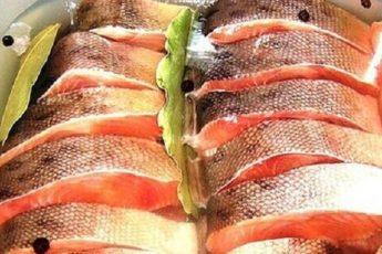 3 отличных рецепта засолки горбуши в домашних условиях Соленую горбушу готовят двумя способами: 1. Сухим. Для этого подготовленную тушку просто пересыпают солью со специями. Рыба пустит сок, соль растворится и пропитает продукт. 2. Мокрым. Для этого используются маринады, соки, рассолы. Кусочки рыбы погружают в холодную заливку и ждут готовности. Как лучше засолить горбушу в домашних условиях, каждый выбирает сам. Но можно из одной рыбины сразу опробовать два или три способа и выбрать наиболее понравившийся по вкусу вариант. Тем более что сам процесс обычно занимает немного времени и, кроме горбуши, требуются примитивные специи, которые есть на любой кухне. 1. Как засолить горбушу в домашних условиях сухим способом Сухая засолка – самый простой способ, требующий минимум продуктов и времени. На подготовку рыбы и весь процесс уйдет не более 15 минут. Через сутки можно лакомиться малосольной рыбкой, через трое соленой. Ингредиенты 1 горбуша около килограмма; 3 ложки сахара; 3 ложки соли. Приготовление 1. Чистим рыбку от остатков чешуи, если она была в заморозке, то заранее оттаиваем. Отрезаем голову, плавники и 10 см хвоста. Все это можно использовать на уху. Вынимаем хребет, крупные кости и получаем 2 филе с кожей. Если есть длинный контейнер, то можно оставить как есть. Или же разрезать каждое пополам. 2. В миске смешиваем соль с сахаром и обсыпаем смесью куски горбуши. Кладем в контейнер кожей вниз, остатки специй просто высыпаем сверху. 3. Убираем рыбку в холодильник, через 5 часов куски переворачиваем, можно поменять местами верхние и нижние. Еще через время можно перевернуть еще разок. 4. Как только горбуша просолится, необходимо взять бумажное полотенце и хорошо промокнуть поверхность. Для сочности кусочки смазываются растительным маслом. 2. Как засолить горбушу в домашних условиях в маринаде Соленую горбушу, приготовленную по этому варианту можно пробовать уже через 8 часов, но лучше дать постоять не мене 12. В отличие от сухого способа, рыбка получается более 